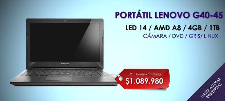 Sabemos que buscas lo mejor en tecnología  por esta razón Lenovo trae para ti este sorprendente computador Portátil Lenovo G40-45 con tecnología AMD